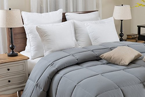 Super Oversized - Down Alternative Comforter - Fits Pillow Top Beds - Queen 92'' x 96'' - Gray - Exclusively by BlowOut Bedding RN #142035 by Web Linens Inc (Image #5)