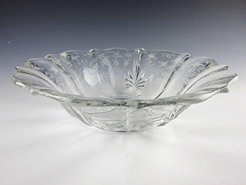 Fostoria Etched Glass CHINTZ Flared Baroque Bowl EXCELLENT (Chintz Fostoria)