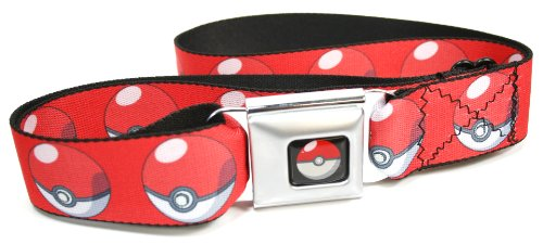 Poke Ball Repeat Red Seatbelt Belt