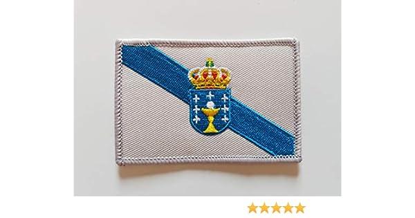 Bandera de Galicia. Parche termo adhesivo para prendas.: Amazon.es: Hogar