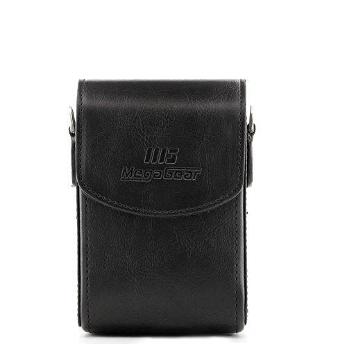 MegaGear Protective Black Leather Camera Case, Bag for for Panasonic Lumix DMC-ZS30, Panasonic Lumix ZS40, Panasonic Lumix DMC-ZS45, Panasonic Lumix DMC-ZS50, Nikon COOLPIX L28, Sony DSC-RX100M III, C
