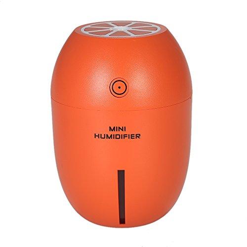 Tablet Intensive Therapy (180ml Multifunctional Humidifier Portable USB Night Light Aroma Diffuser Lemon Shape Handy Mini (Orange))