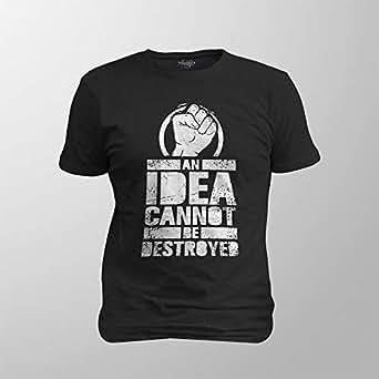 Antika Men T-Shirt An Idea, Black, S