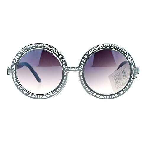 SA106 Art Nouveau Victorian Jewel Round Circle Lens Retro Sunglasses - Victorian Sunglasses Retro