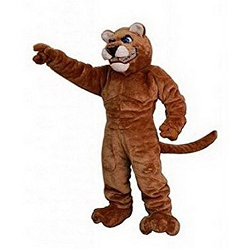 Deluxe Power Cat Cougar Mascot Costume Adult Size for Height 5'7