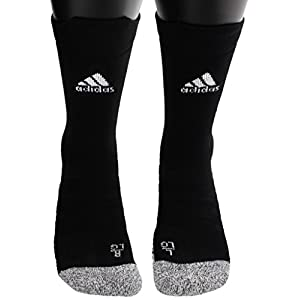 adidas Alphaskin Traxion Lightweight Cushioned Crew Socks (1 Pack), Black, 9.5 12