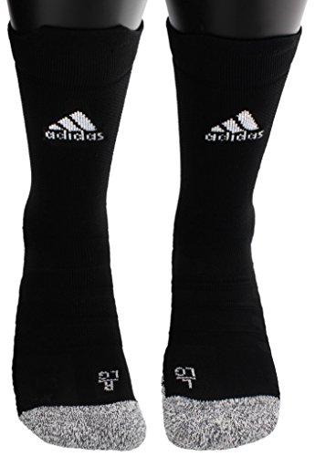 (adidas Alphaskin Traxion Lightweight Cushioned Crew Socks (1-Pack), Black, 6.5-9)