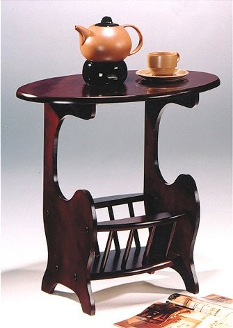Charmant Antique Style Wood Magazine Rack Table, Cherry Finish