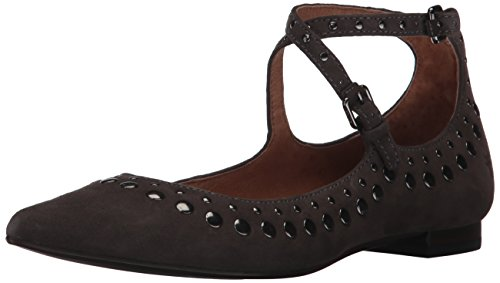 Frye Womens Sienna Stud Criss Cross Balletto Piatto In Camoscio Fumo