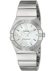 Omega Womens 12310276005001 Constellation Analog Display Swiss Quartz Silver Watch