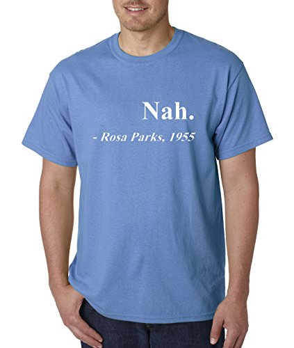 allwitty 1091 - Unisex T-Shirt Nah. Rosa Parks 1955 XL Carolina Blue