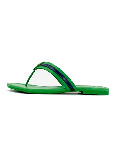 ce8f38c1bf82dc Tory Burch Maritime Flat Shoes Flip Flop Sandal Leather (6.5 B (M) US