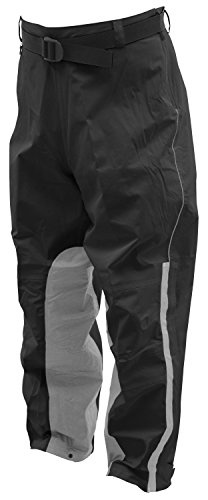 (Frogg Toggs NTH85106-01LG ToadSkinz Reflective Pants, Black/Silver, Large)
