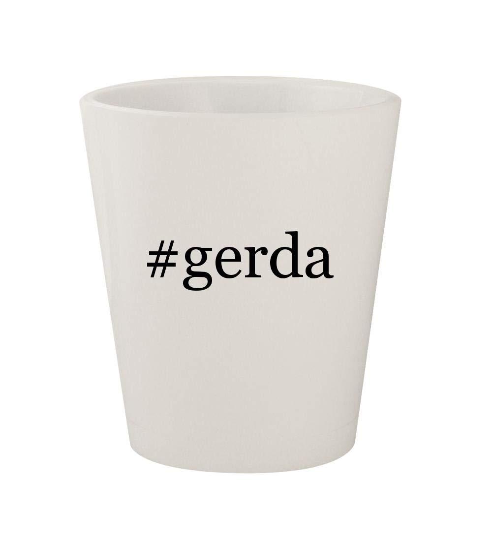 #gerda - Ceramic White Hashtag 1.5oz Shot Glass by Knick Knack Gifts