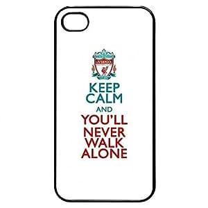 Liverpool Keep Calm Never Walk Alone iPhone 4/4s Plastic Case