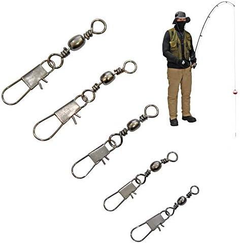 Fishing Bundle Quick Change Swivels Fishing Quick Change Clips For Fishing PROGARMENTS 40Pcs Rig Tube Fishing