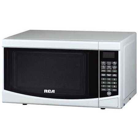 (RCA 0.7-cu ft Microwave /Model:RMW733-BLACK /Color: White)