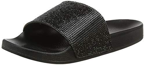 Klein 02 Zapatillas Calvin Slides Negro Mujer schwarz Impermeables Para z7Bx1qw4