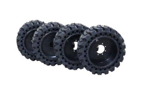 Amazon Com Summit Flat Proof 12 X 16 5 Skid Steer Tires W Rims Cat Deere Bobcat Gehl Solid Industrial Scientific