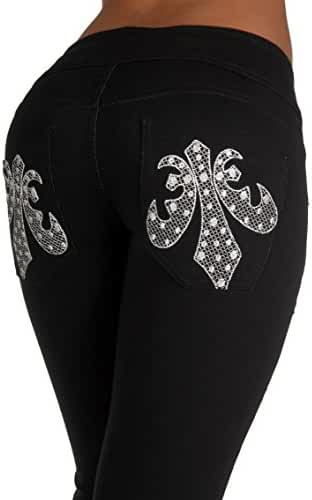 U-Turn Jeans Women's Brazilian Butt Lift Levanta Cola Moleton Skinny Leg
