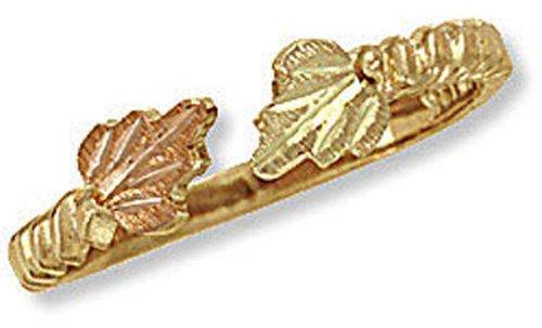- Landstroms Ladies 10k Black Hills Gold Toe Ring with Leaves - G LLR264