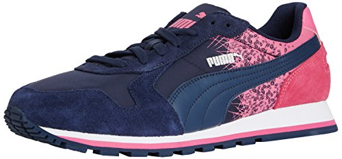 Puma ST Runner FR, Sneakers basses mixte adulte Bleu - Blau (peacoat-carmine rose 05)