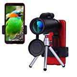 12x50 Monocular Telescope, Phone Telescope Lens Compact Scope with Phone Clip, Waterproof BAK4 Prism FMC Lens, Single Hand Focus for Adults/Outdoors/Bird Watching/Hunting/Camping/Travel by Kelife