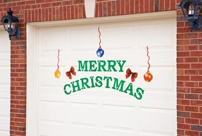 Merry Christmas Holiday Garage Door Magnets
