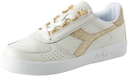 Diadora Women's B.Elite L Trainers Shoes White in Size US 8