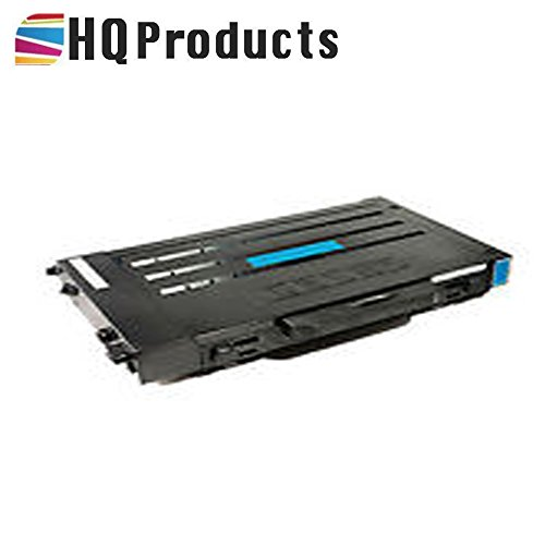 HQ Products Premium Compatible Replacement for Samsung CLP-510D5C Cyan Laser Toner Cartridge for use with Samsung CLP510, CLP510N, CLP510NG Series (Clp 510d5c Cyan Laser)