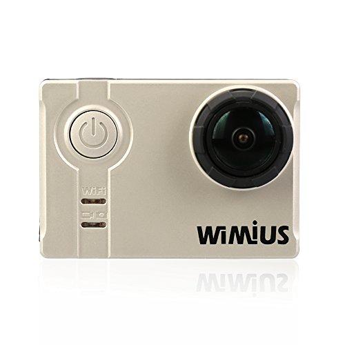 WiMiUS® Waterproof Action Camera 16MP 2K WiFi Sports Camera Ambarella Built-in WiFi Helmet Cam HD Camcorder (A1-Silver) Action Cameras WiMiUS®