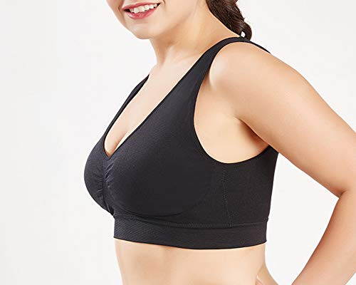 Per Yoga Corsa Taglie Running Nero Reggiseno Brassiere Fitness Quge Donna Sportivo Senza Forti Ferretto UTA5q78H