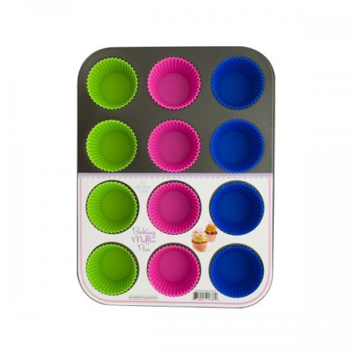Kole Muffin Baking Pan with Silicone Cups