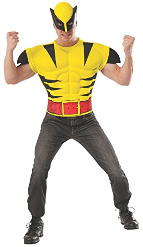 Rubie's Men's Marvel Universe Adult Wolverine Muscle Chest T-Shirt/Mask, Multi, -