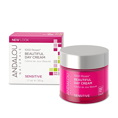 Andalou Naturals 1000 Roses Beautiful Day Cream, 1.7 Ounce, For Sensitive, Dry, Delicate or Easily Irritated Skin, Soothes & Calms