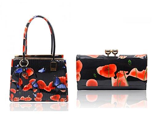 A Wallet Craze Borsa Bag Donna amp; Black Spalla London f6AxPq6E