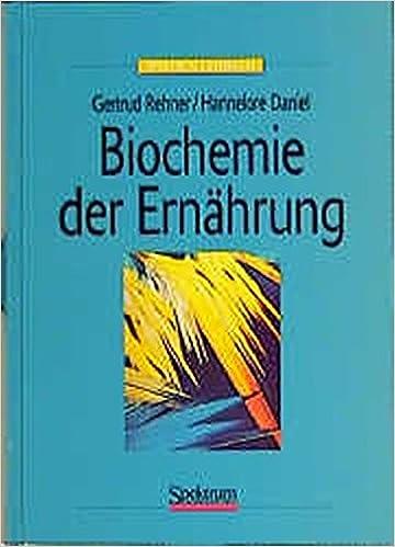 Biochemie der Ernährung: Amazon.de: Gertrud Rehner, Hannelore Daniel ...