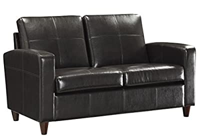 OSP Furniture Espresso Eco Leather Club Chair with Espresso Finish Legs