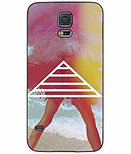 Sexy Lady with Trippy Legs TPU RUBBER SILICONE Phone Case Back Cover Samsung Galaxy S5 I9600