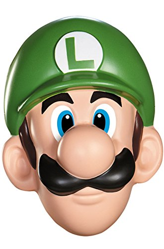 [Disguise Men's Nintendo Super Mario Bros.Luigi Adult Mask Costume Accessory, Green/White/Brown, One] (Nintendo Costumes For Adults)