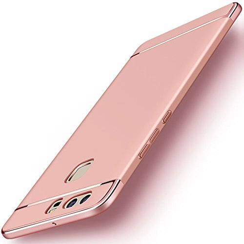 Huawei P9 Plus Funda + Anillo inteligente Sostenedor Soporte, 3 en 1 híbrido Carcasa Antideslizante, Caso Protectora Completa Ultra Delgado y Ligero, Slim-Fit Anti-Choque Bumper Case Cover: Amazon.es: Electrónica