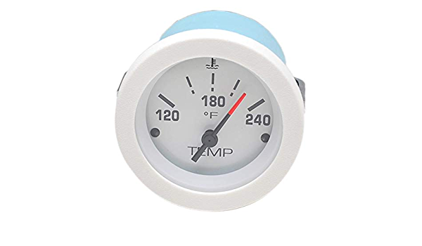 "Teleflex Lido 2/""  Blank White Chrome Bezel Boat gauge"