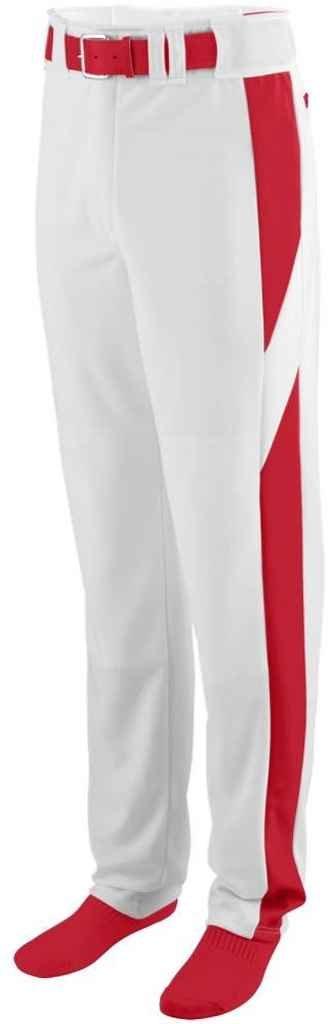 Augusta Sportswear Big Boy 'sリラックスフィット野球パンツ B00P5448LI Medium|ホワイト/レッド ホワイト/レッド Medium