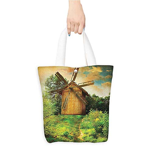 - Canvas Tote Bag Traditial Holland Energy Sources Naturalative Tapestry Wall Hanging Soft Perfect for Shopping, Laptop W16.5 x H14 x D7 INCH