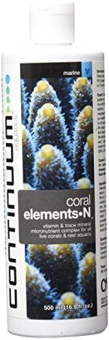 Continuum Aquatics Coral Elements N – Vitamin & Trace Mineral Nutrient Supplement for Coloration of Live Corals & Reef Aquarium
