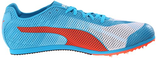 Puma Evospeed estrella V4 zapatilla de deporte White-Atomic Blue-Red Blast