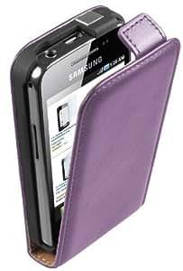 Membrane - Morado Funda Carcasa para Samsung Galaxy Ace (GT-S5830i / S5839i) - Flip Case Cover