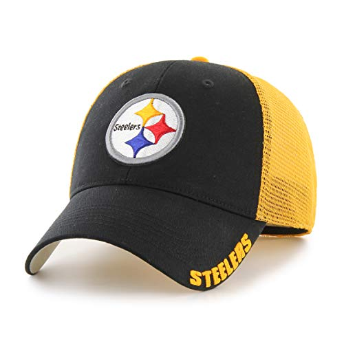 - NFL Pittsburgh Steelers Hursh OTS Center Stretch Fit Hat, Black, Large/X-Large