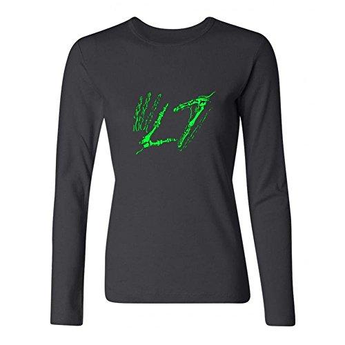 Brick Logo T-shirt (CHENGXINGDA Women's L7 Rock Band Logo Long Sleeve T-shirt Size L)
