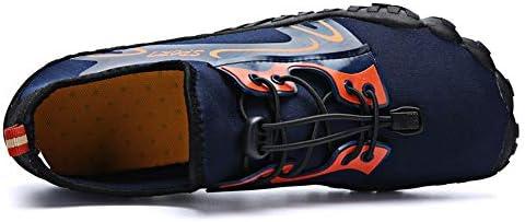 アウトドアダイビング5本指フロントネクタイ男性と女性ダイビングアップストリームシューズ、釣りシューズストレッチメッシュゴム素材ビーチワタリ靴水泳シューズ ポータブル (色 : Blue, Size : US5.5)